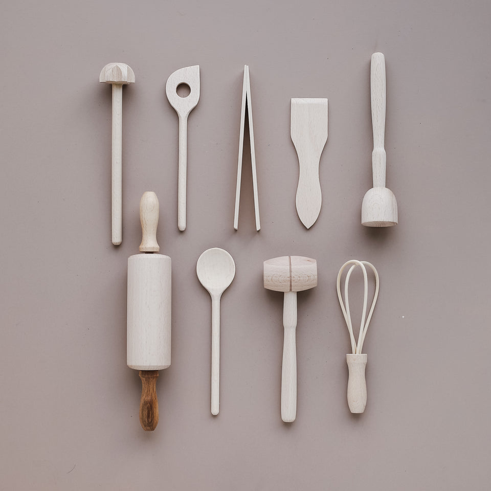 Wooden Baking Tools (Set of 9)
