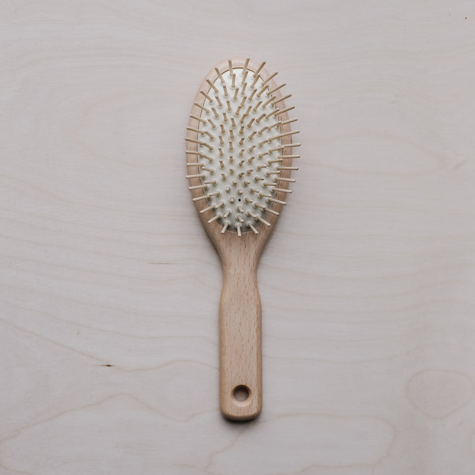 Hair Brush with Wood Pins