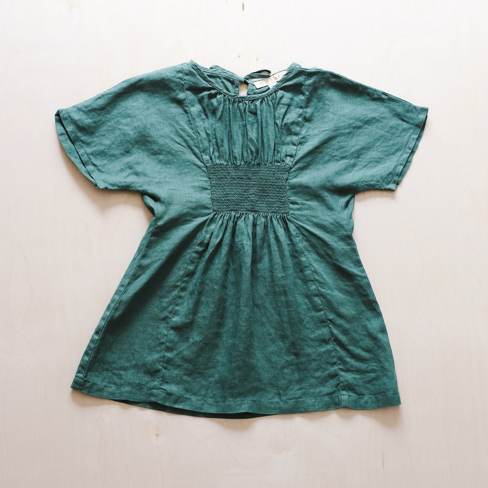 Bella Dress (Bottle Green)