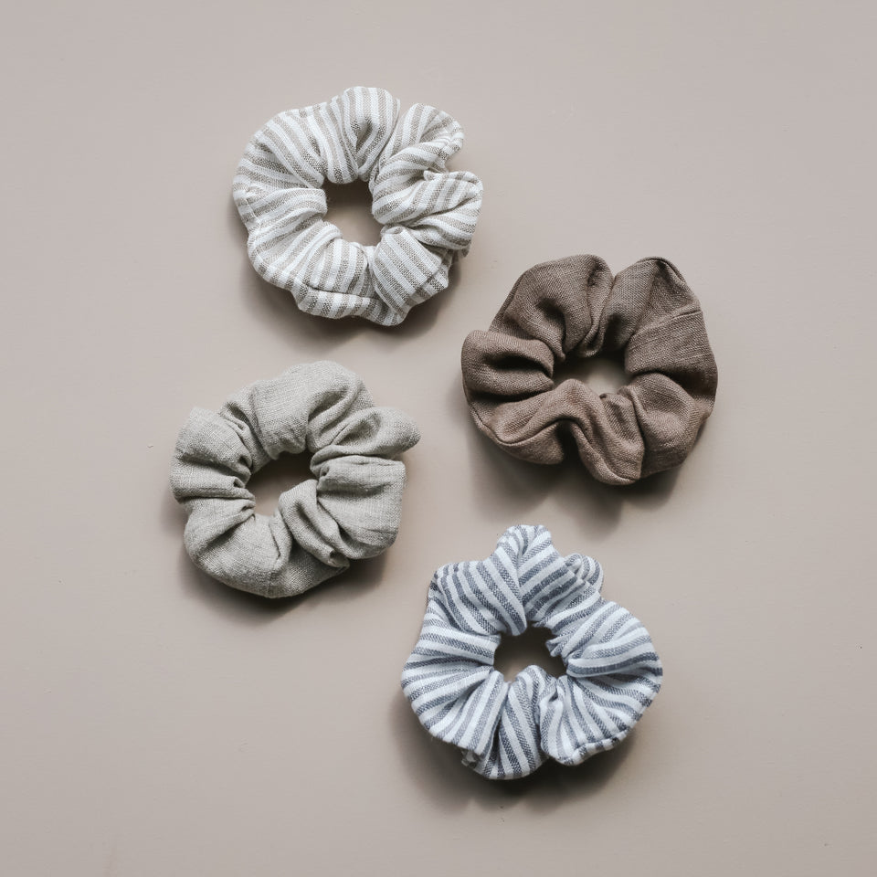 Linen Hair Scrunchie