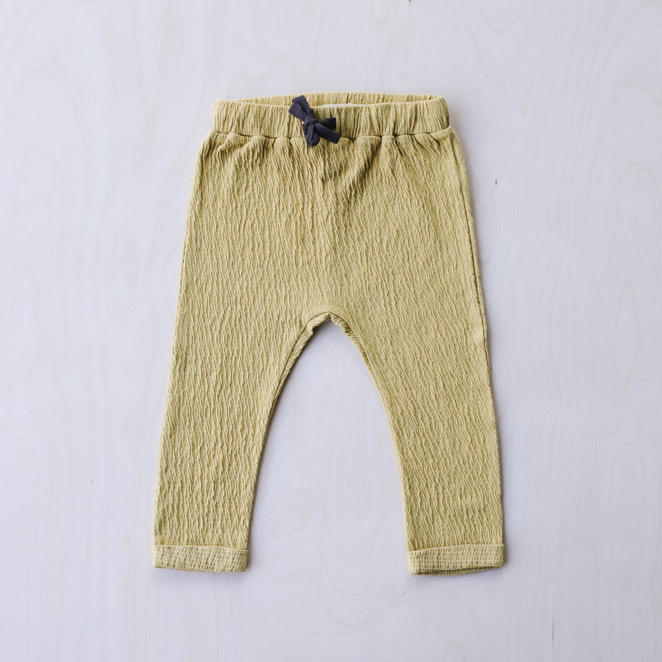 Textured Baby Pants (Dusty Yellow)