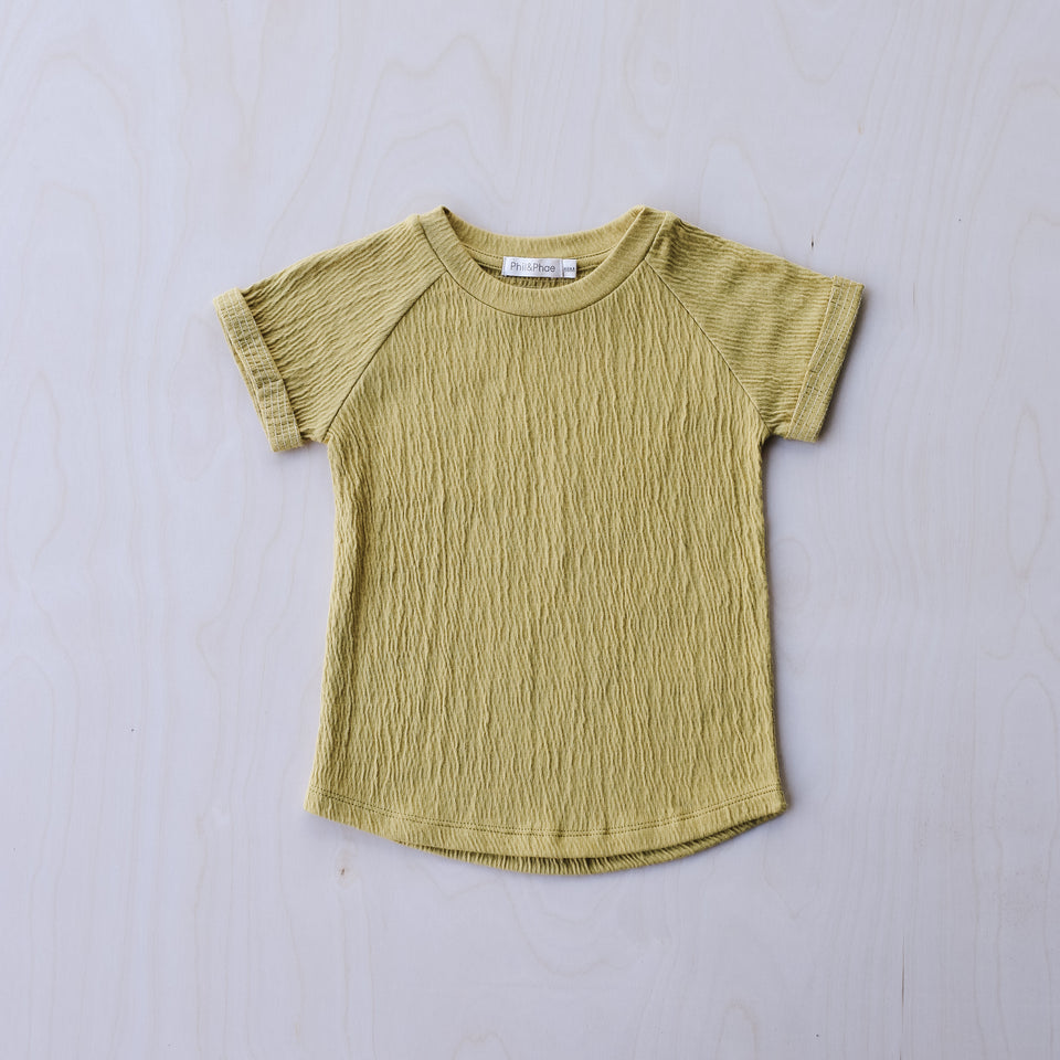 Textured Raglan Top (Dusty Yellow)