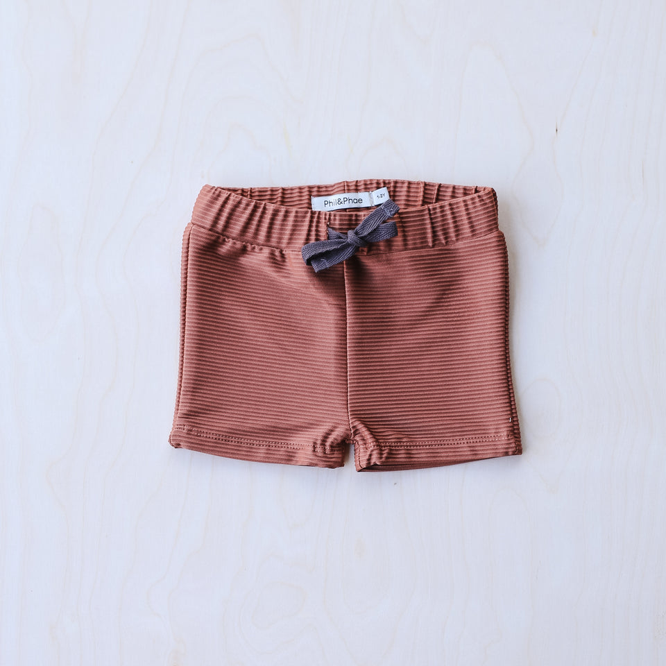 Swim Shorts (Burnt Clay)
