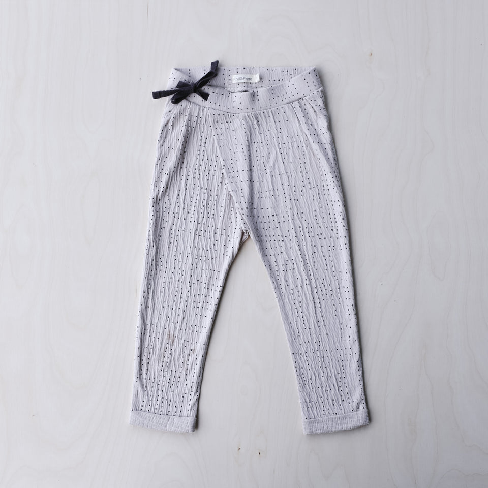 Pleated Harem Pants (Almond Milk)