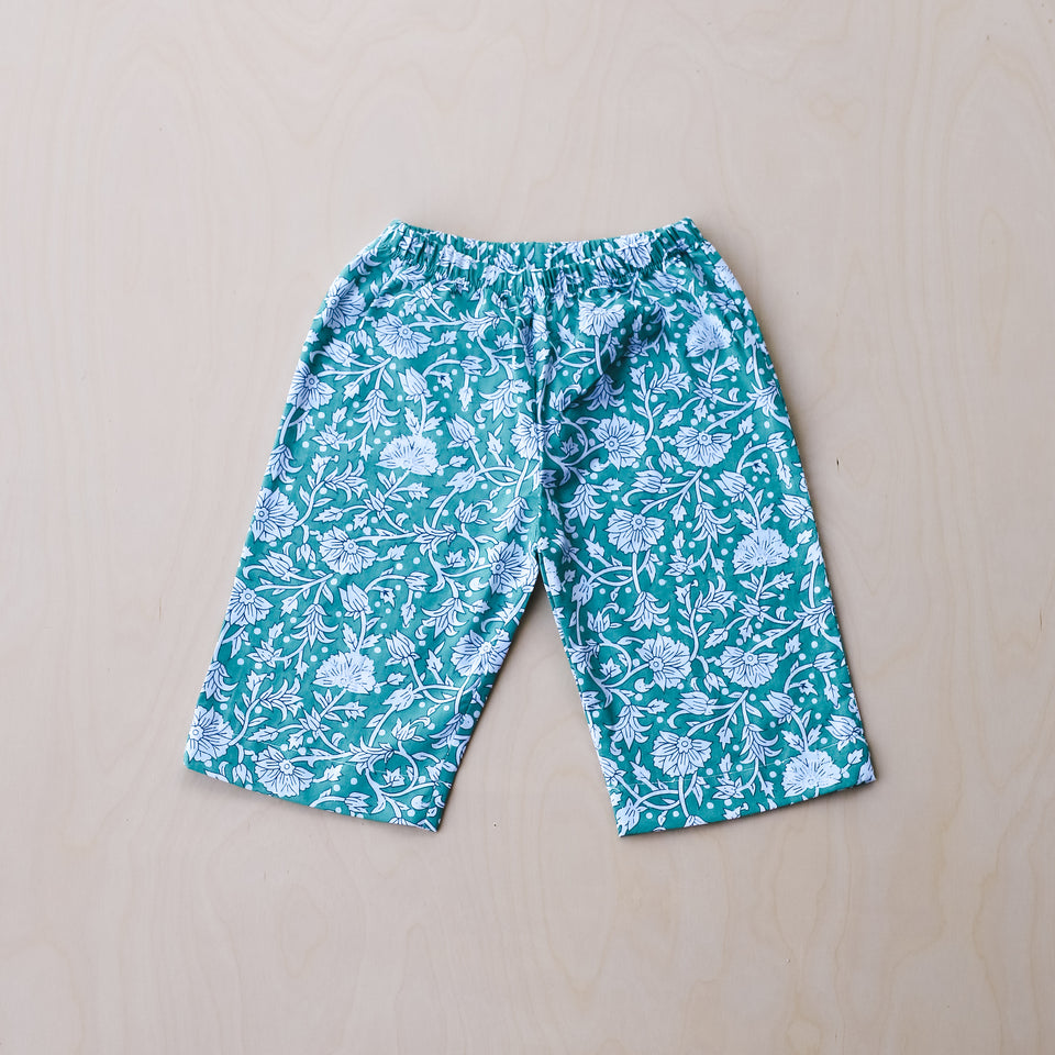Lee Pants (Turquoise Flower)