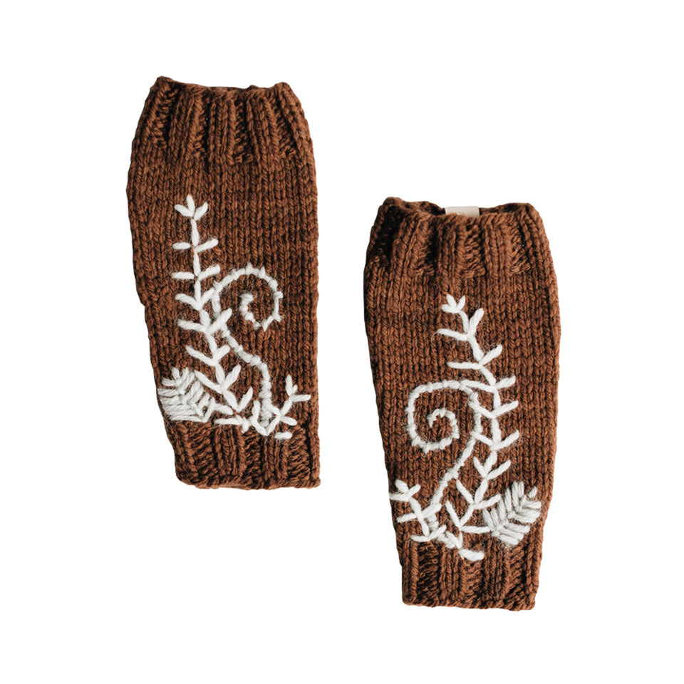 Fiddlehead Leg Warmers (Bark)