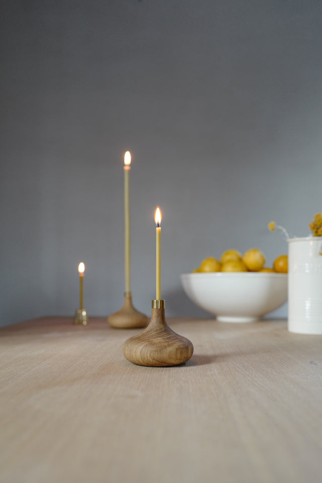 Oak Candle Holder