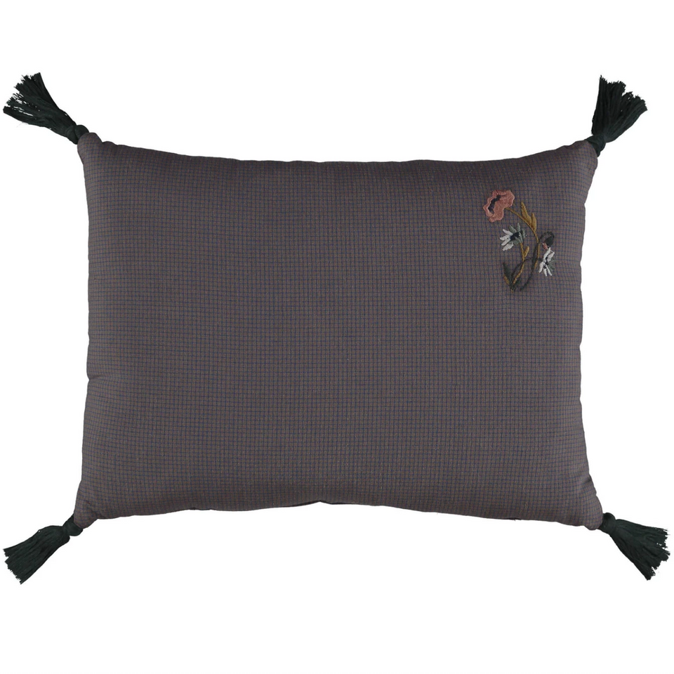 Embroidered Padded Cushion (Graph Check)