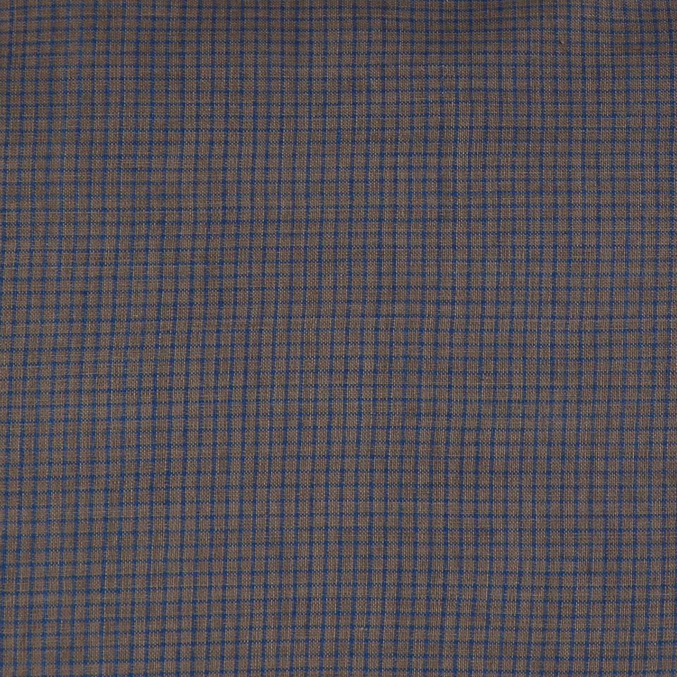 Fitted Sheet (Mocha/Blue Check)
