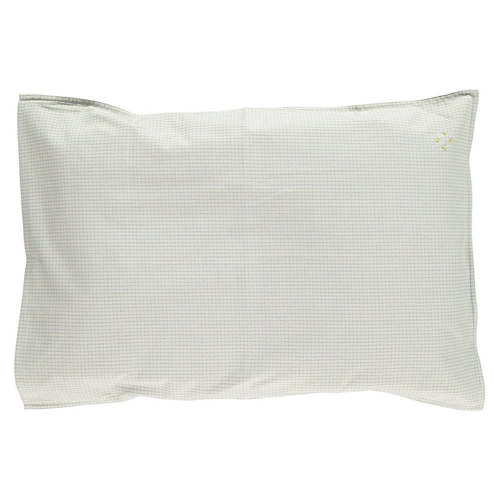 Pillow Case (Double Blue Check)