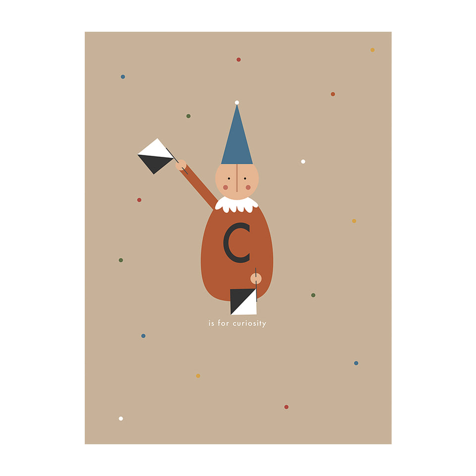 C is for Curiosity Art Print