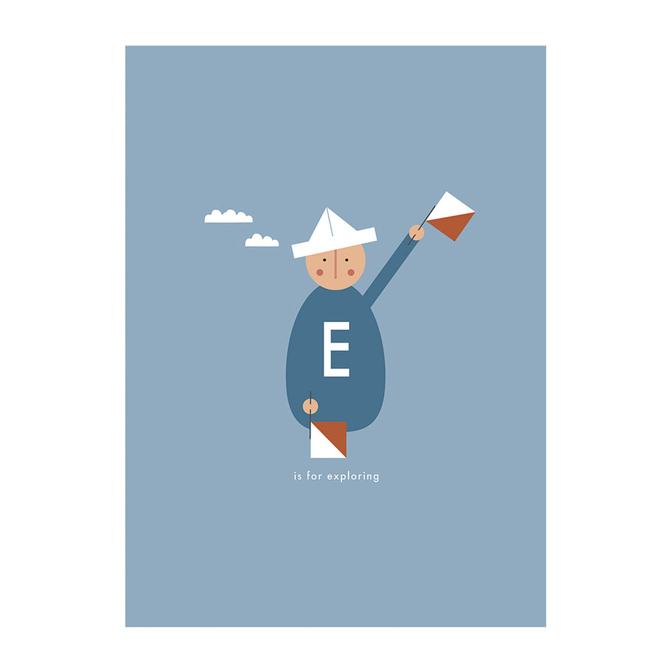 E is for Exploring Art Print