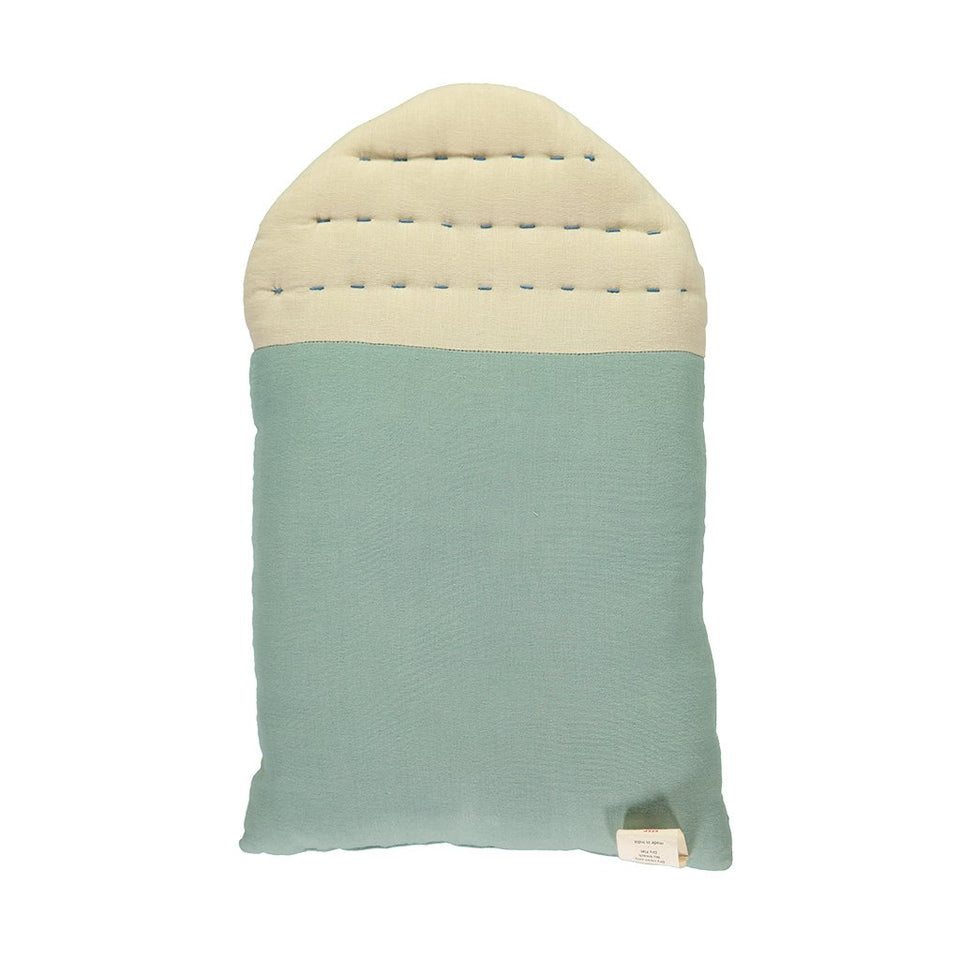 Midi House Cushion (Teal + Stone)