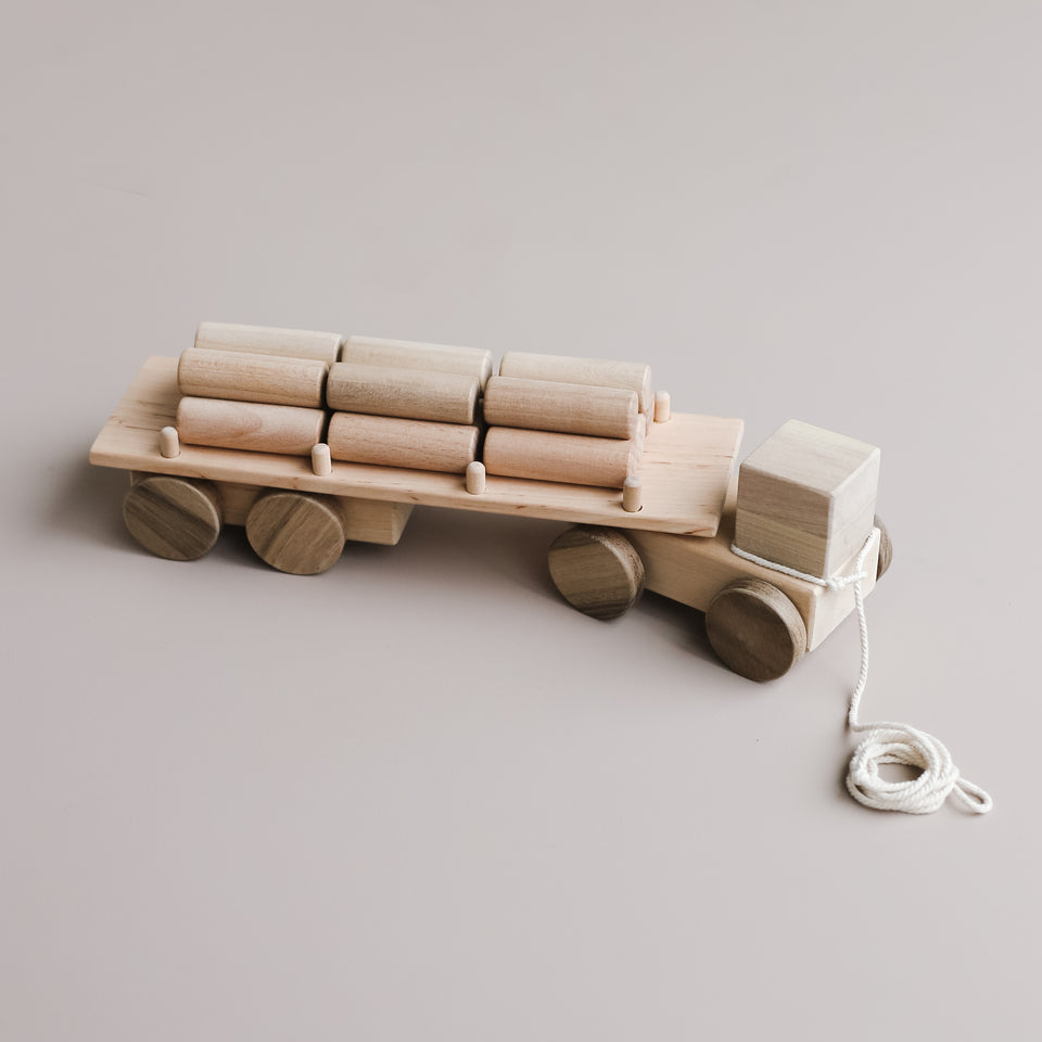 Wooden Logging Truck