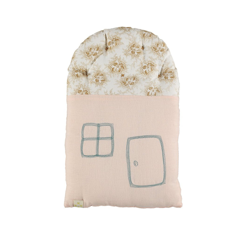 Small House Cushion (Pearl Pink + Spot Floral)