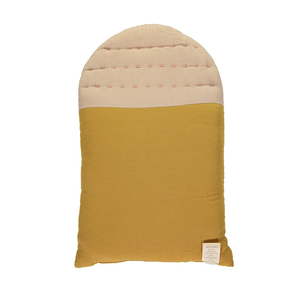 Midi House Cushion (Pearl Pink + Ochre)