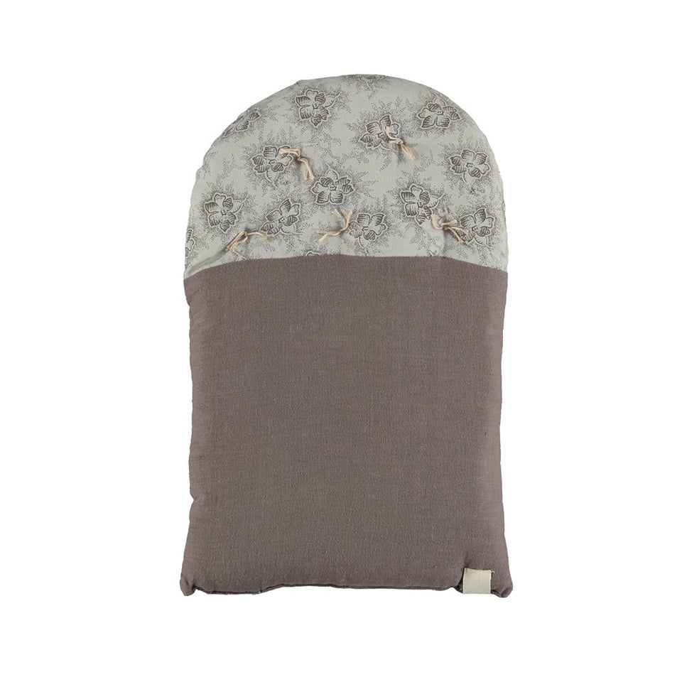 Small House Cushion (Grey + Spot Floral)