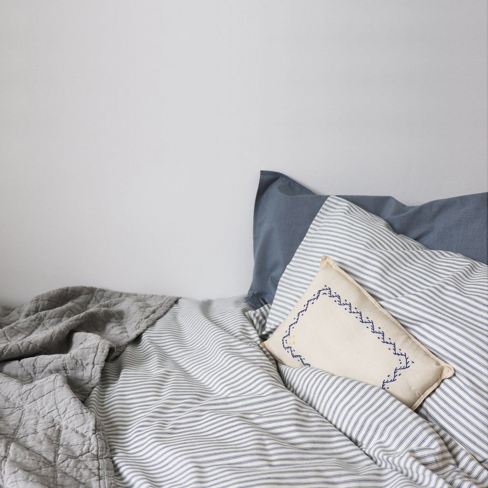 Duvet Cover (Blue Ticking Stripe)