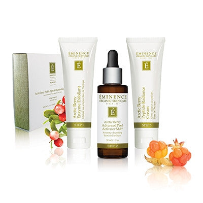 Arctic Berry Peel & Peptide Illuminating System - Bright, Glowing Skin! - Organic Skin Therapy