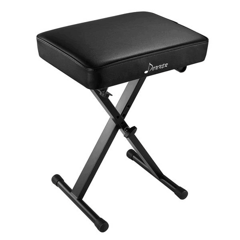 Donner Adjustable Keyboard Bench Seat Thickened Padded Piano Stool