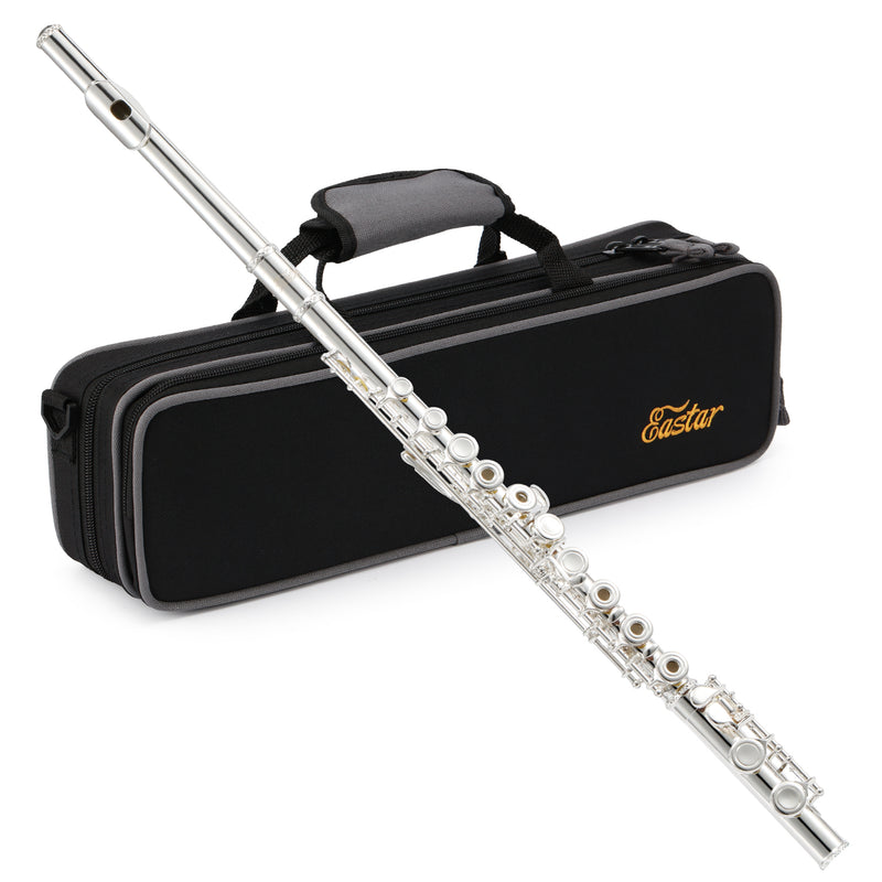 Eastar EFL-2 Open/Close Hole C Flutes 16 Keys Silver Plated Beginner Flute Set