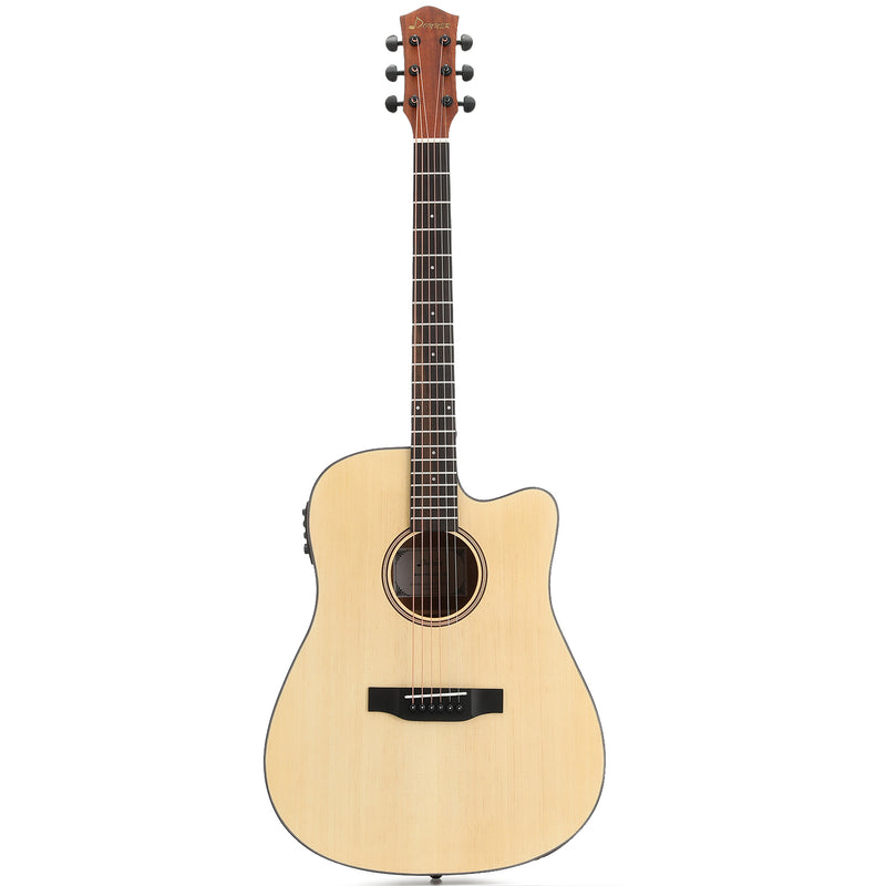 Donner DAG-1CE Electric Acoustic Guitar Cutaway 41¡¯¡¯ Full-size Guitar Bundle Built-in Preamp with Bag Strap Tuner String