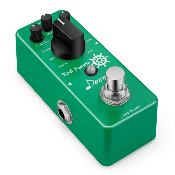Pre-sale-Donner Digital Reverb Guitar Effect Pedal Verb Square 7 Modes