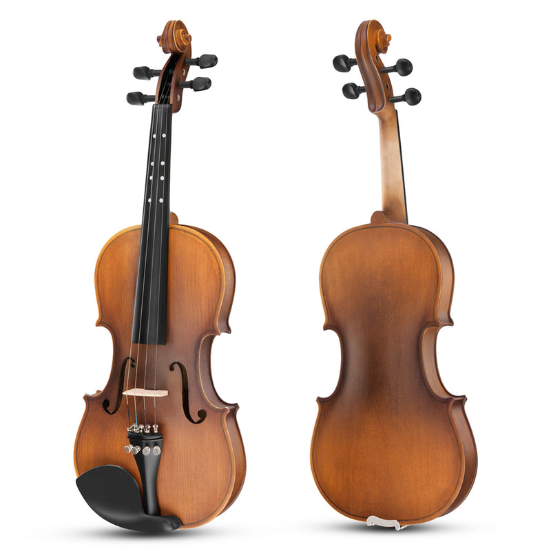 Eastar Full Size 4/4 Violin Set EVA-3 Matte Fiddle for Kids Beginners Students Adults with Hard Case, Rosin, Shoulder Rest, Bow, and Extra Strings (Imprinted Finger Guide on Fingerboard)