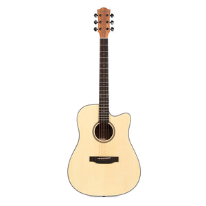 Donner 41'' Cutaway Acoustic Guitar Full-size DAG-1C Spruce Beginner Guitar Bundle with Gig Bag Tuner Strap String