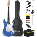Donner DST-100R 39 Inch Electric Guitar Sonic Red/ Sapphire Blue/Tidepool/Vintage White with Amplifier, Bag, Capo, Strap, String, Tuner, Cable¡ê?Pick