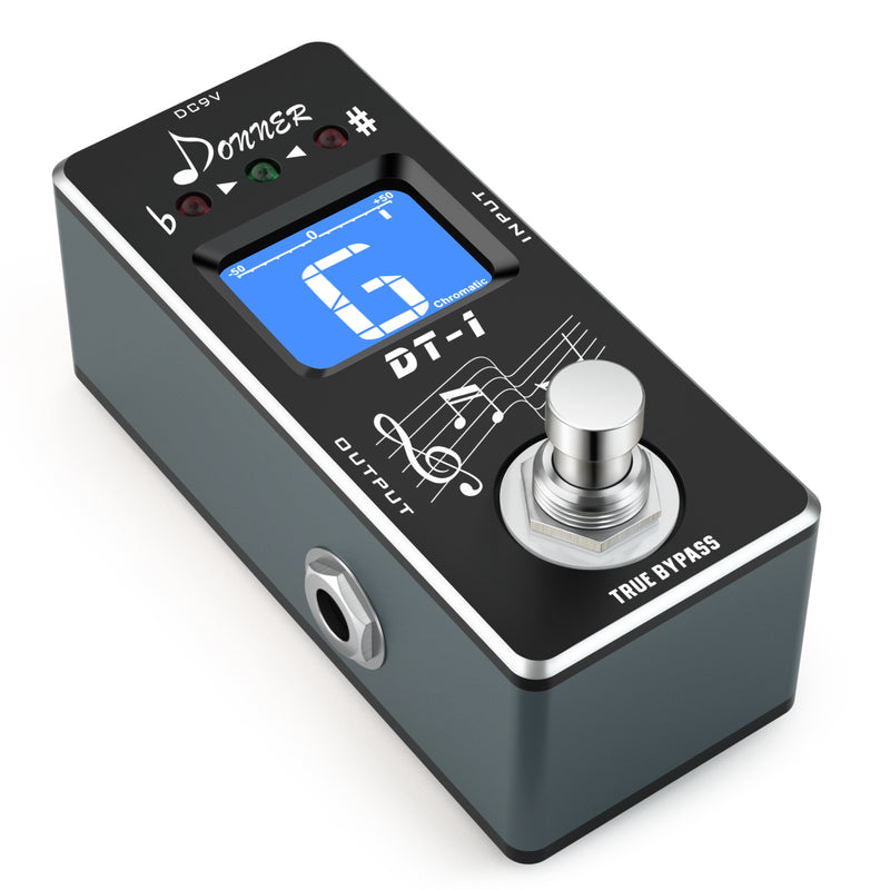 Donner DT-1 Chromatic Guitar pedal tuner True Bypass