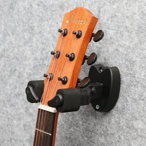 Donner Wall Guitar Mount Auto Lock Guitar Hanger For Guitar Bass Ukulele Violin Black