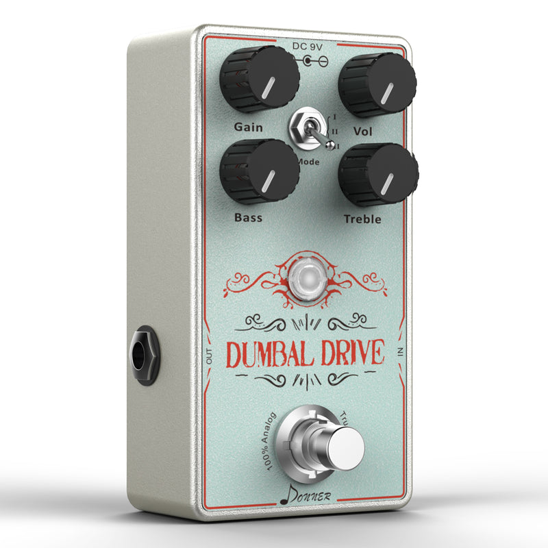 Donner Dumbal Drive Guitar Pedal True Analog Circuit Overdrive Pedal