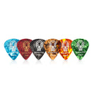 Donner Celluloid Guitar Picks 16 Pack Includes Thin, Medium, Heavy & Extra Heavy Gauges