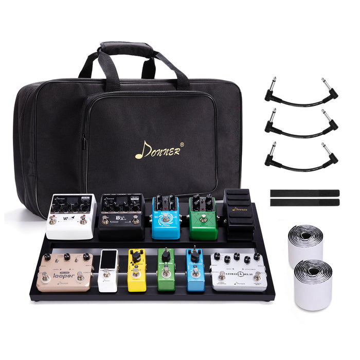 Donner Guitar Pedal Board Case DB-3 Aluminium Pedalboard 20'' x 11.4'' x 4'' with Bag