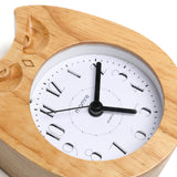 Angry Owl Art Pastoral Durable Wood Alarm Clock