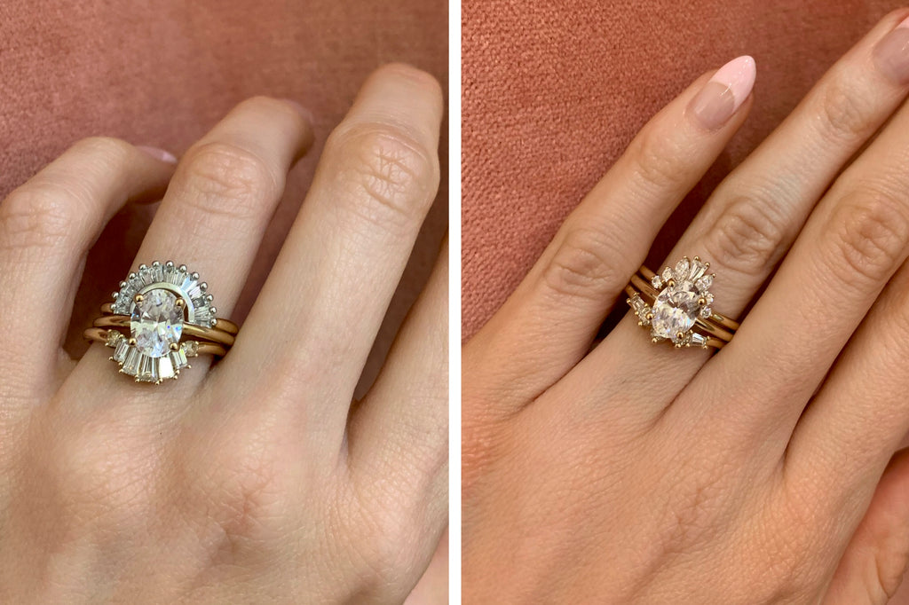 How To Stack Oval Engagement Rings Marrow Fine