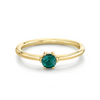 Tourmaline Solitaire Stacking Ring - October - Marrow Fine