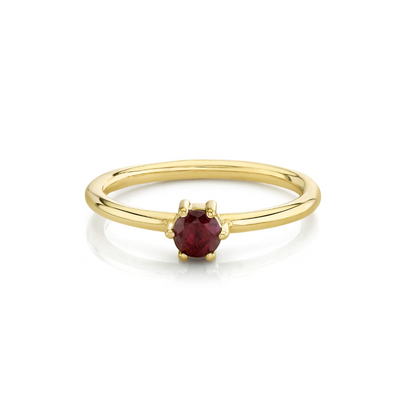 Ruby Solitaire Stacking Ring - July - Marrow Fine