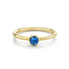 Sapphire Solitaire Stacking Ring - September - Marrow Fine