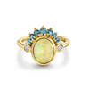Montana Sapphire & Opal Headdress Ring - Marrow Fine