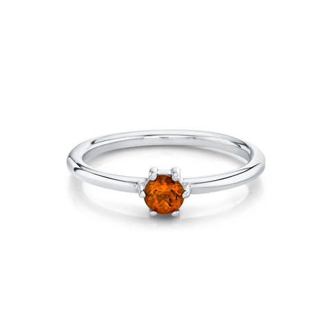 Citrine Solitaire Stacking Ring - November - Marrow Fine