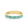 """Always"" Gold Memory Ring - Robin's Egg Blue Enamel - Marrow Fine"