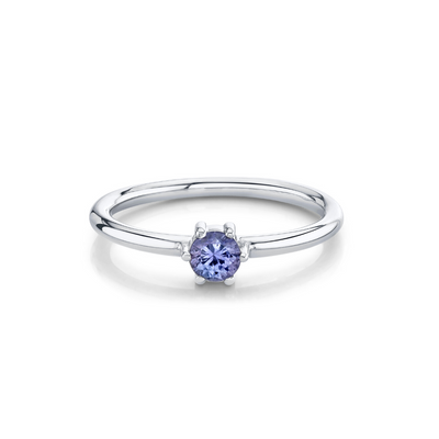 Tanzanite Solitaire Stacking Ring - December - Marrow Fine