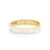 """Always"" Gold Memory Ring - White Enamel - Marrow Fine"