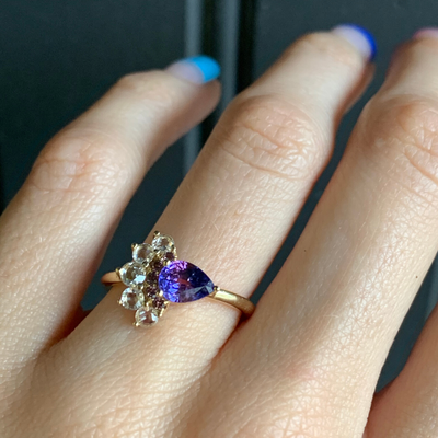 .93ct Bicolor Sapphire Peacock Ring - Marrow Fine