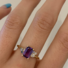 1.22ct Bicolor Purple Sapphire Cluster Ring - Marrow Fine