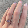 Dusty Rose Sapphire Bullet Ring - Marrow Fine