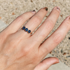 Montana Sapphire Hex Stacking Ring