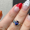 Blue Bicolor Sapphire Cluster Ring - Marrow Fine